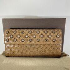 Bottega Veneta Intorechato Full Flap Wallet Bi-fold Studded #DH117-70