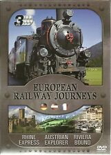 EUROPEAN RAILWAY JOURNEYS 3 DVD BOX SET RHINE EXPRESS, AUSTRIAN & RIVIERA BOUND