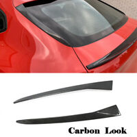 Fit For BMW X4 G02 19+ Carbon Look Rear Window Fins Side Spoiler Flaps Wing Lip