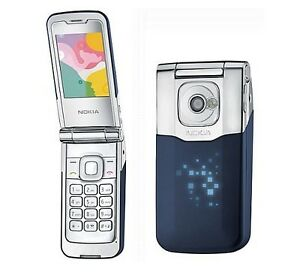 BLUE NOKIA SUPERNOVA 7510a-b FLIP FLOP GSM 2G ONLY CELL PHONE METALLIC CELLULAR
