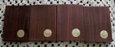 4 pc 1971 & 1974 S Proof Eisenhower Brown Box Ike Dollar 40% Silver US Coin Lot