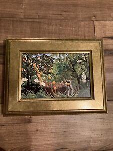 Framed Henri Rousseau Print: Exotic Landscape (detail), Brand new