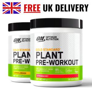 Optimum Nutrition Gold Standard Vegan Plant Pre Workout - 30 Servings (240g)