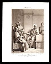 santino incisione acquatinta 1800 S.LORENZO GIUSTINIANI
