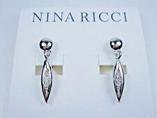 Earrings with Swarovski Crystals 1407 Nina Ricci Rhodium Plated Clip