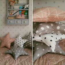 star shaped cushion pillow decorative nursery kids bedroom 100%cotton