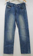 DIESEL Kulter Men's Blue Cotton Relaxed Fit Straight Leg Denim Jeans W31 L32