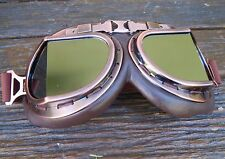 Aviator goggles copper steampunk leather look retro burning man motorcycle fly