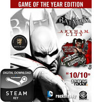 BATMAN ARKHAM CITY GAME OF THE YEAR EDITION GOTY PC AND MAC STEAM KEY