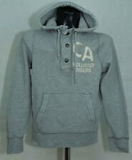MENS HOLLISTER HOODY HOODIE GREY ZIP NECK  SIZE S VGC R