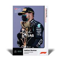 2020 Formula 1 F1 Topps Now card #5 VALTTERI BOTTAS Wins Russian Grand Prix