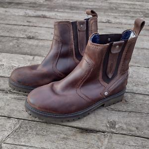 Wrangler Western Chelsea Biker Type Boots Brown Leather Size UK 8 (EU42) Men's