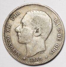 ESPAGNE : 1 PESETA ARGENT 1882MS-M
