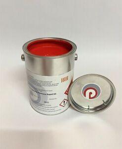 Strassenmarkierungsfarbe rot RAL 3020  /  3 kg   13,00€/kg