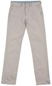 Tommy Hilfiger Men's Jeans Denim Chino Cream Cotton Pocket Button Zip Size 32/34