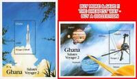 GHANA 1990 VOYAGER 2 SPACE FLIGHT x2 S/S MNH CV$7.50