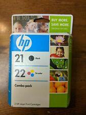 HP 2-Pack Inkjet Cartridges - 21 Black/22 Tri-Color (C9509FN) Exp 12/2010