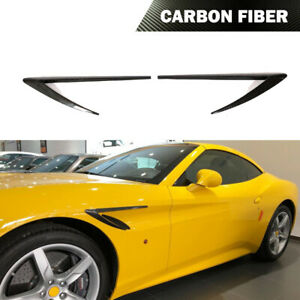 Fit for Ferrari California T 15-18 Side Fenders Body kit Fin Vents Carbon Fiber