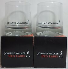 VHTF JOHNNIE WALKER SCOTCH WHISKY SET OF TWO GLASSES NIB
