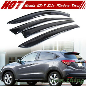 2014-2019 Fit FOR HONDA HR-V HRV 2nd Side Window Visor Sun Rain Guards Smoke LX