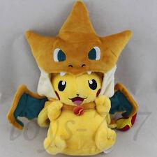 "Pikazard 9"" Stuffed Animal Charizard Skin Fusion Nintendo Plush Toy Cartoon Doll"