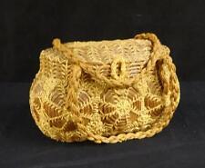 Antique Wicker & Twine Basket Purse or Handbag Nice!