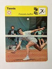 CARTE EDITIONS RENCONTRE 1977 / TENNIS - FRANCOIS JAUFFRET