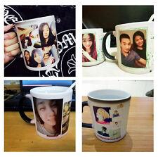 Personalised MAGIC Black Color Change Mug Custom Cup Gift Photo Text Design Gift