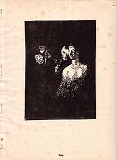 "1921 HOLZSCHNITT-DRUCK ANTIK GRAFIK ""BORGIA"" ROBERT BUDZINSKI KÖNIGSBERG"