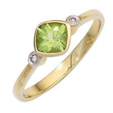 Echte Diamanten-Ringe mit Peridot für Damen