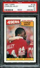 1987 Topps Football Charles Haley #125 Rookie RC HOF PSA 10
