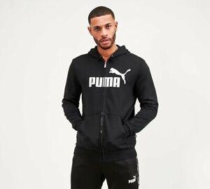 PUMA - Essential Full Zip Hoodie (Black) Mens