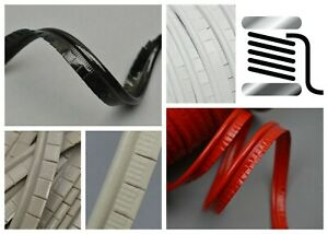 3mm/5mm Cut Edge PATENT Faux Leather Piping Cord Upholstery Automotive Marine