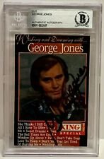 GEORGE JONES Signed Autograph Slabbed BAS BECKETT Country Music Legend HOF