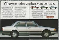 1984 HONDA ACCORD 2-page advertisement, silver Accord sedan, Canadian advert