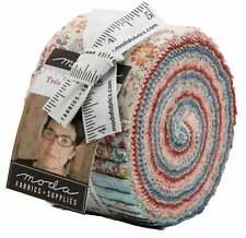 "Moda, Tres Jolie Lawns, Jelly Roll, 2.5"" Fabric Quilting Strips, 13870JRLW, J05"