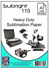 Subright 115 A3 Heavy Duty Sublimation Paper 1000 Sheets