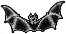 Bat Skeleton Cutout 2 sided Patch Goth Vampire Skull Gothic Dracula Witchcraft