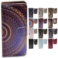 For Apple iPhone Series Case - Mandala Print Flip Wallet Mobile Phone Case Cover