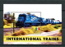 Guyana 2014 MNH International Trains 1v S/S Railways Rail Mexico Stamps