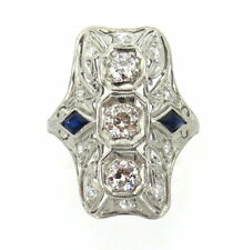 ANTIQUE PLATINUM DIAMOND ART DECO RING