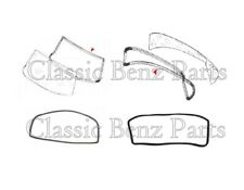 Mercedes W114 W115 Front and Rear Windshield Window Rubber Seal Set 2 PCS
