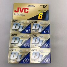 JVC Digital Video Cassette Mini DV 6 pack 60 Minute LP 90 DVM60ME MDV60ME6HT
