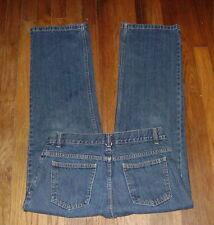 Faded Glory Boys Straight Leg Dark Wash Jeans Size 10 Slim Adjustable Waist NEW