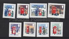 More details for gb qeii mnh stamp set 2018 christmas postboxes sg 4154-4161