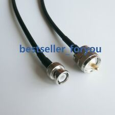 100cm RG58 Cable PL259 UHF Male Plug To BNC Male Straight Coax Pigtail