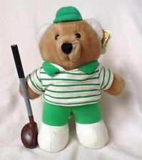 Vintage Golfer Teddy Bear Golf Golfing Dakin Plush Stuffed Animal W/ Club Boy