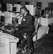 OLD MUSIC JAZZ PHOTO Jazz Musician Harry Carney Playing Saxophone
