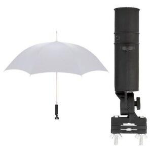 Universal Schirmhalter für Rollstuhl / Rollator / Kinderwagen / Schirm Halterung