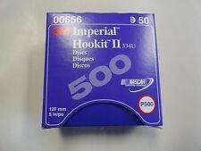 "3M P500 IMPERIAL HOOKIT II 334U SANDING DISCS 5"" (127 MM) QTY: 50 PART # 00656"